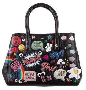 Anya Hindmarch 2016 Small Ebury Featherweight Sticker Bag