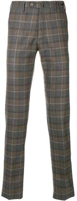 Pt01 checked slim trousers