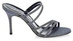 Manolo Blahnik Andena Strappy Leather Heels