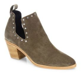 Rebecca Minkoff Rebecca Minkoff Lana Studded Cutout Suede Booties