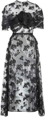 Prada Cotton-Blend Lace Midi Dress Size: 36