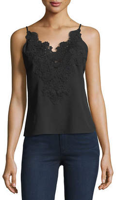 Elie Tahari Lace-Trim Sleeveless Blouse