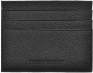 Giorgio Armani Emporio Leather Card Holder Black