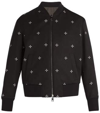 Neil Barrett Reversible Military Star Bomber Jacket - Mens - Black White