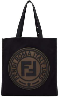 Fendi Black Roma Italy 1925 Tote