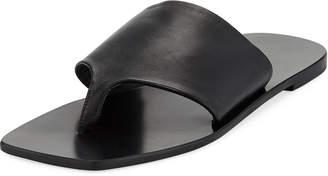 The Row Flat Napa Leather Thong Sandal
