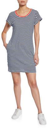 Splendid Seaside-Stripe Short-Sleeve Cotton Dress