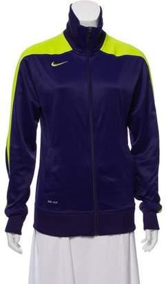 Nike Zip-Up Rib-Accented Sweatshirt