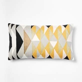 west elm Layered Diamonds Crewel Pillow Covers