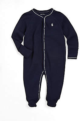 Ralph Lauren Baby Boy's Cotton Jersey Footed Coverall