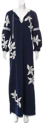 Tory Burch Embroidered Maxi Dress w/ Tags