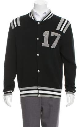 Givenchy Stripe Varsity Wool Jacket