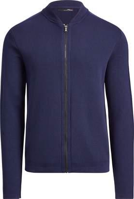 Ralph Lauren Cotton-Blend Full-Zip Sweater
