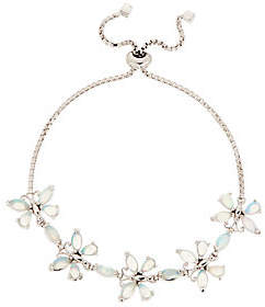 QVC Turquoise or Ethiopian Opal Butterfly Bracelet,Sterling Silver