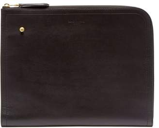 Dunhill Duke Large Leather Zip Around Document Holder - Mens - Black