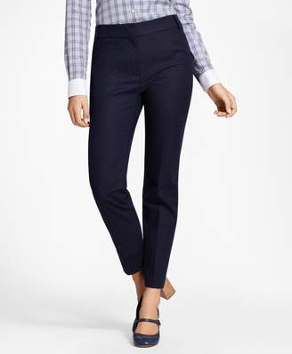 Brooks Brothers Petite Slim-Fit Diamond Jacquard Ankle Pants