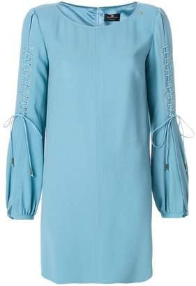 Elisabetta Franchi lace-up sleeve dress
