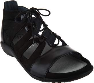 Naot Footwear Leather Ghillie Sandals - Selo