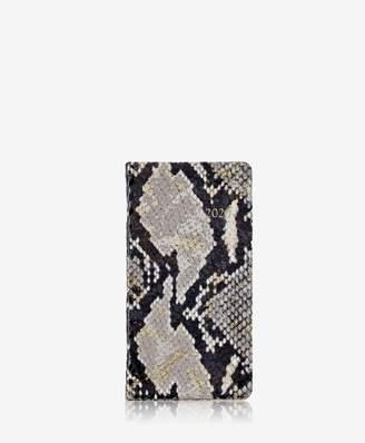 GiGi New York 2019 6 Pocket Datebook In Gold Wash Embossed Leather