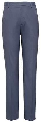 Banana Republic Slim Non-Iron Stretch Cotton Houndstooth Pant