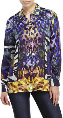 robert graham Breanne Printed Silk Blouse $298 thestylecure.com