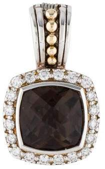 Lagos Smoky Quartz & Diamond Enhancer Pendant