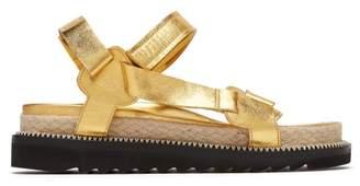 Marques Almeida Marques'almeida - Metallic Leather Sandals - Womens - Gold