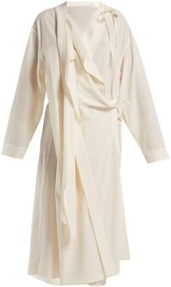 Lemaire Wool-crepe asymmetric dress