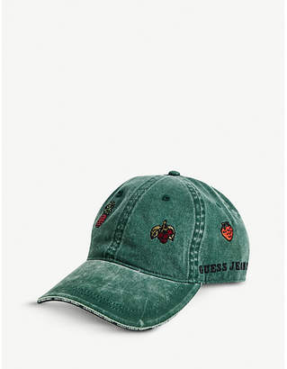 GUESS USA Farmers Market embroidered cotton baseball cap