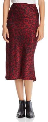 Anine Bing Bar Leopard Silk Skirt