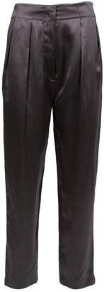 Acne Studios Grey Silk Trousers