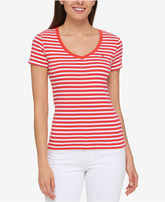 Tommy Hilfiger Cotton Striped T-Shirt, Created for Macy's $24.50 thestylecure.com