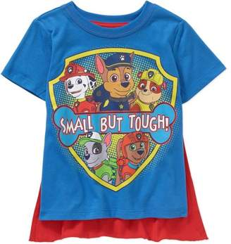 PAW Patrol Paw Patrol Toddler Boy Small But Tough Short Sleeve Caped Tee