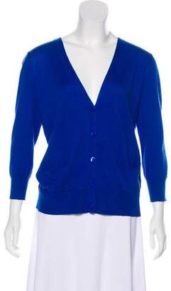 Barneys New York Barney's New York Silk-Blend Knit Cardigan