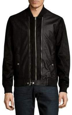 Members Only Double Front Zip Bomber Jacket