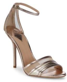 Aperlaï Metallic Ankle-Strap Sandals