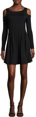 Susana Monaco Women's Cold Shoulder A-line Dress