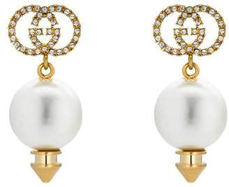 Gucci Interlocking G earrings with pearl