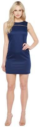 Ellen Tracy Solid Pique Dress with Hardware Detail Women's Dress