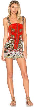 Camilla Shift Halter Romper in Red $400 thestylecure.com
