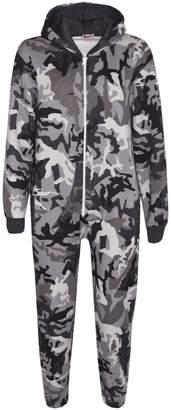 A2Z 4 Kids® Girls Boys Fleece Camouflage A2Z Onesie One Piece Kids All in One Jumpsuit 5-13Y