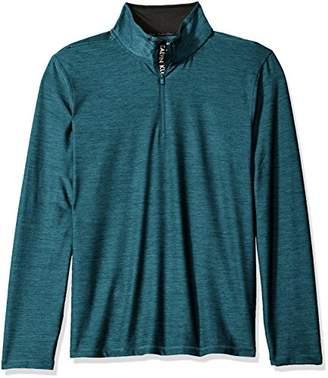 Calvin Klein Men's Space Dyed 1/4 Zip Knit Shirt