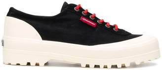 Superga colour block sneakers