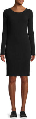 Vince Ribbed Merino Wool Scoop-Neck Dress