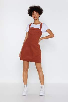Nasty Gal Play Date Corduroy Pinafore Dress