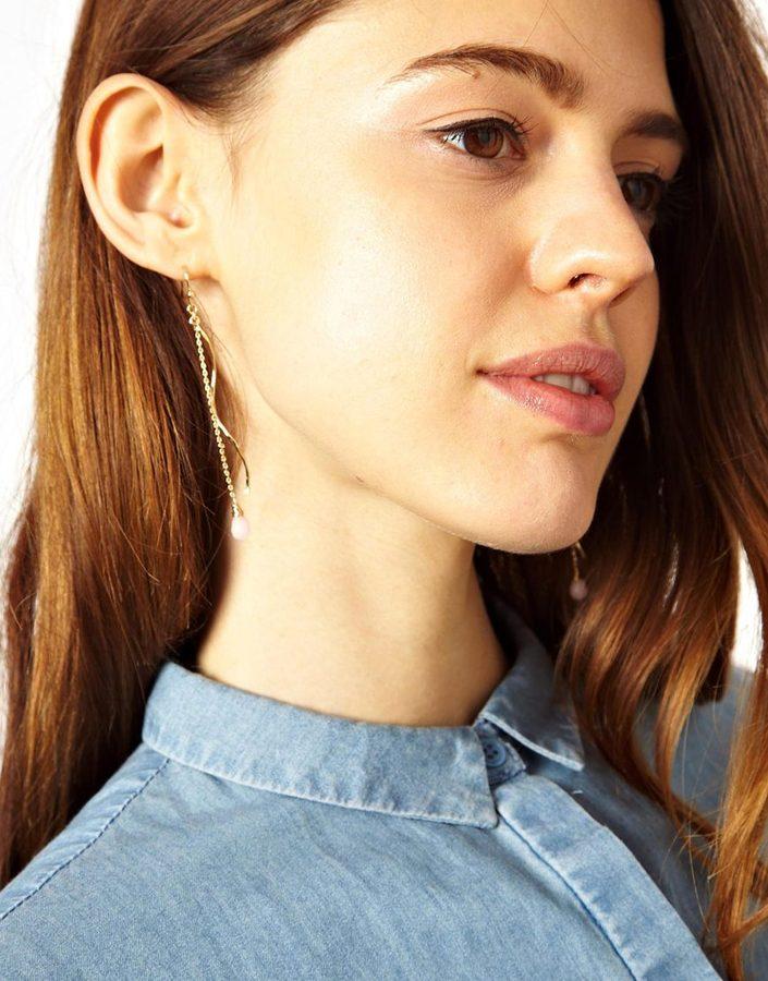 Asos Twist Precious Drop Earrings