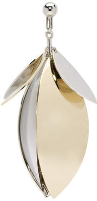 Proenza Schouler Silver and Gold Full Leaf Earring