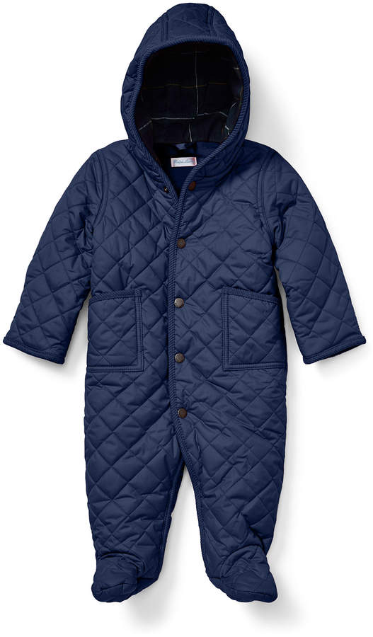 Ralph Lauren Childrenswear Matte Diamond-Quilted Hooded Bunting, Size 3-9 Months