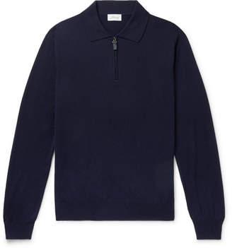 Brioni Slim-Fit Wool Half-Zip Sweater