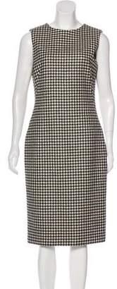Alexander McQueen Wool Houndstooth Dress